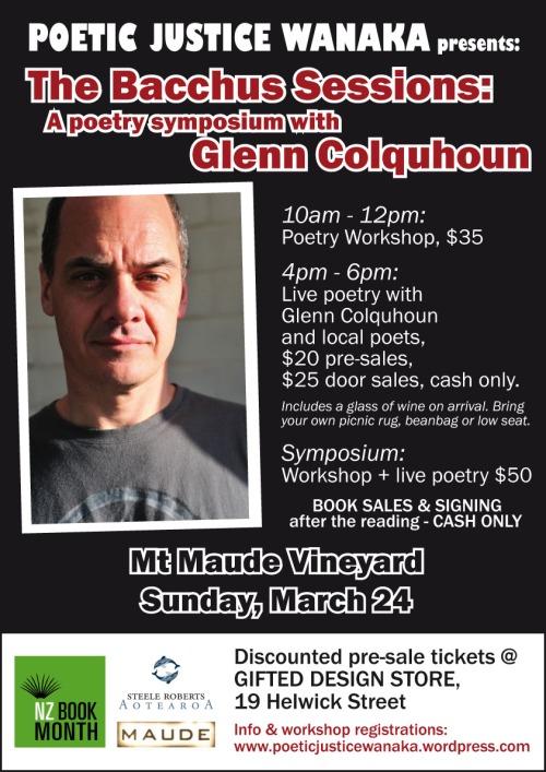 Glenn Colquhoun Poetry Symposium Poster